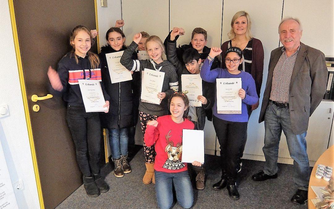 Preisträger der 58. Mathematik-Olympiade (Kreisrunde) am  Emsland-Gymnasium