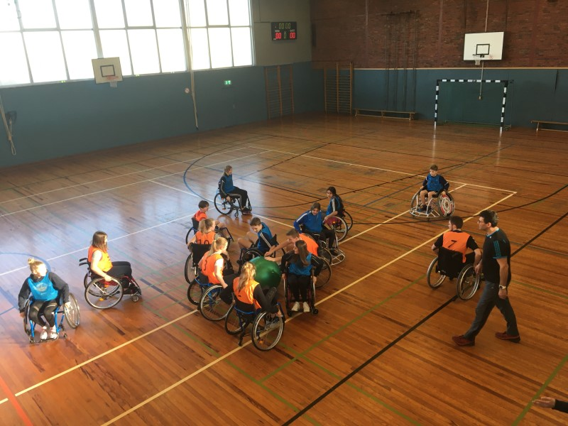 Zweiter Rollstuhlsporttag am Emsland-Gymnasium – wieder eine tolle Erfahrung